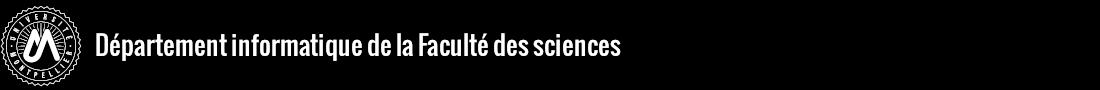 Département informatique de la Faculté des sciences Logo